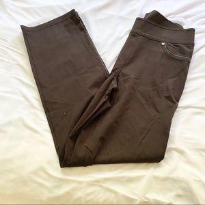 Nygard Slims brown pointe pants M